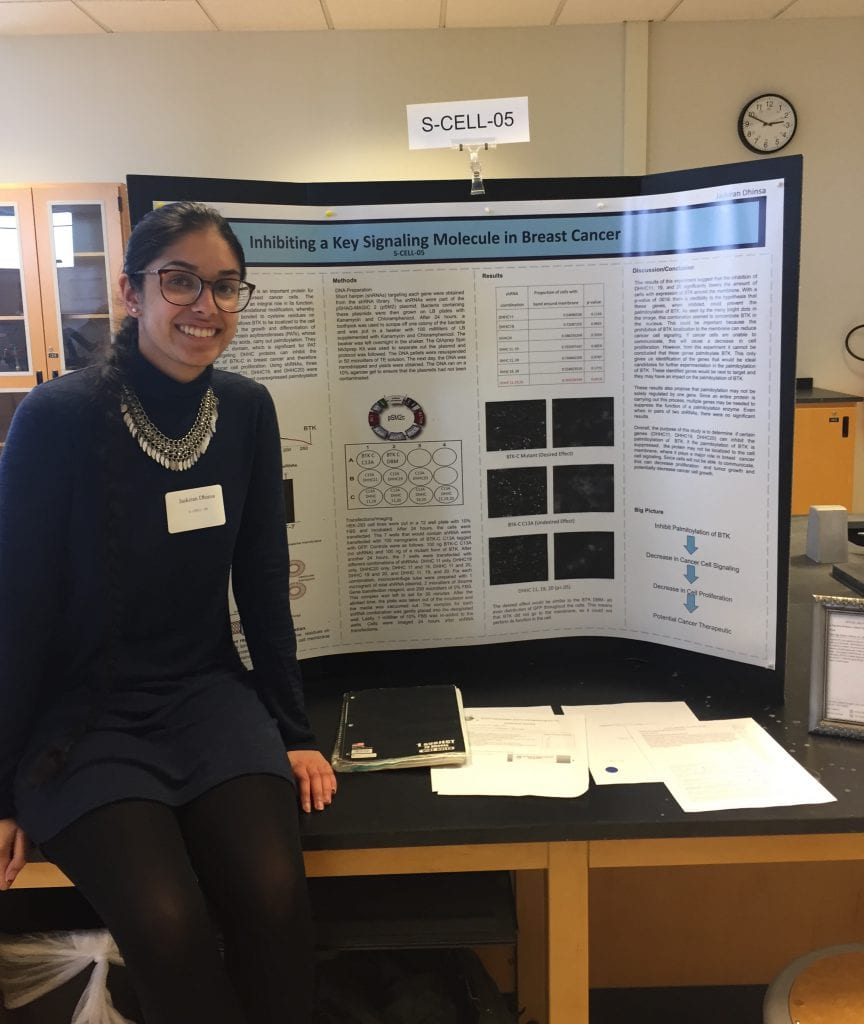 BCHS senior wins biotechnology award for research to stop breast cancer