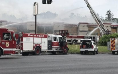 9W closed as firefighters tackle Howard Johnson fire