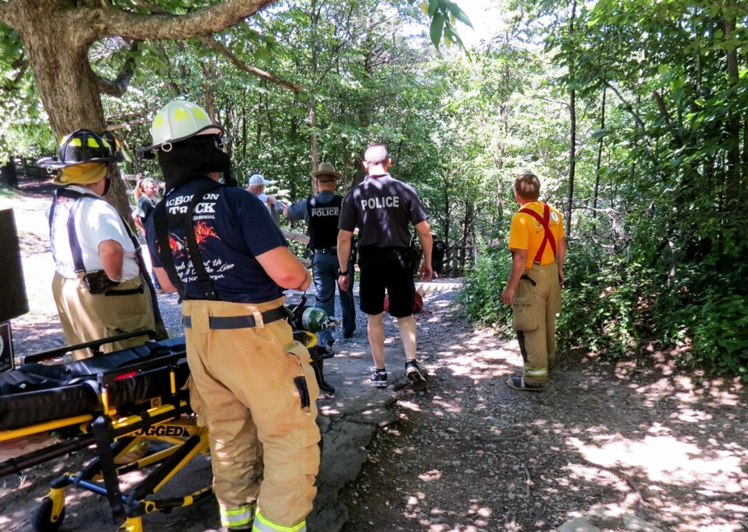 Woman injured by falling rock at Thacher Park