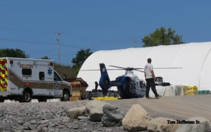 Two injured at Port of Coeymans mishap