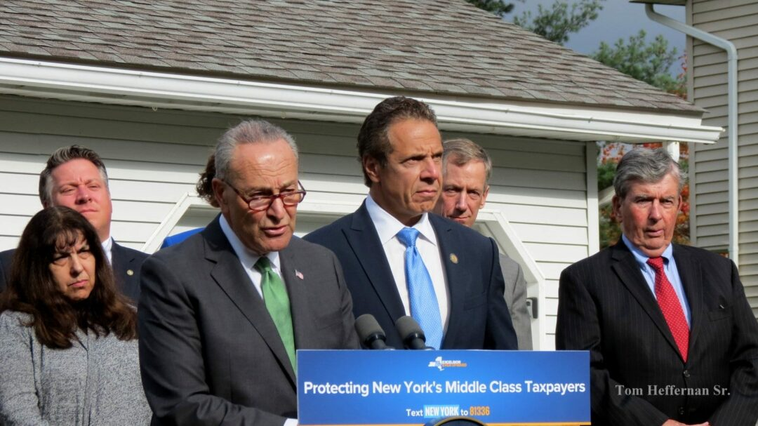 Schumer, Cuomo team up on tax reform in Selkirk