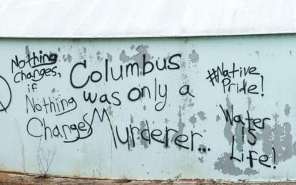 Vandals in Colonie bash Columbus, taunt police (w/photo gallery)