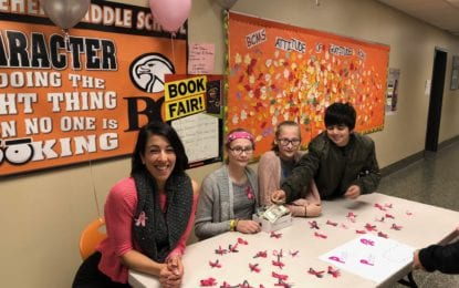 BCSD middle school students honor Christine Porter, a recently departed teacher