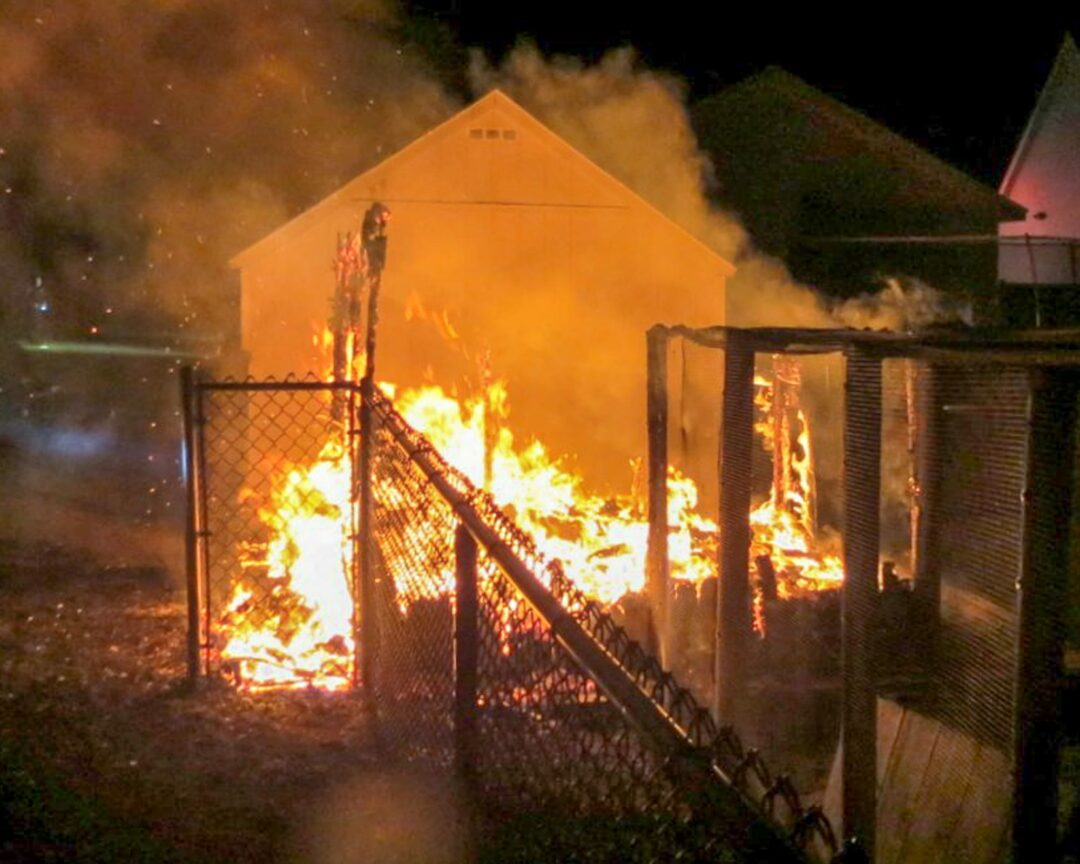 Chicken coop catches fire on Wemple Road (w/photo gallery)