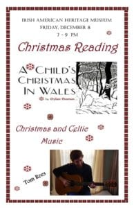 """A reading of Dylan Thomas' """"A Child's Christmas in Wales"""" @ Irish American Heritage Museum   Albany   New York   United States"""
