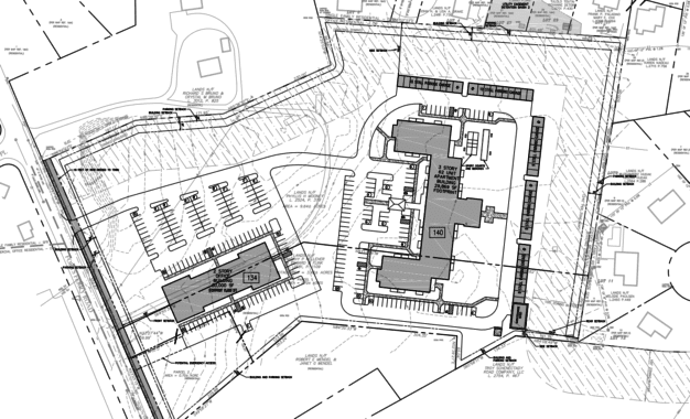 Three options for Summit at Forts Ferry in front of Colonie Planning Board