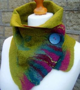 Wearable works of Art: Hand-felted Wool Scarves