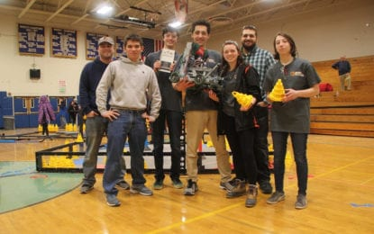 After winning local VEX competition, members of the new Bethlehem Robotics Club team are preparing for regional state championship