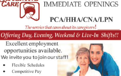 Attentive Care of Albany, Inc. are looking to hire