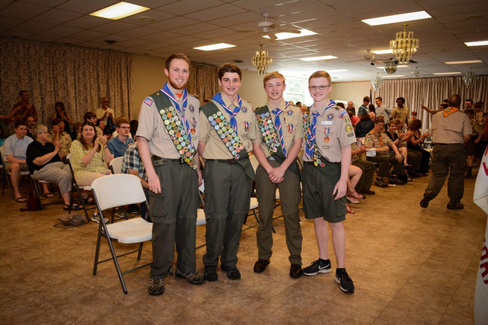 Delmar Boy Scout Troop 58 recognizes four more who have achieved the organization's highest rank