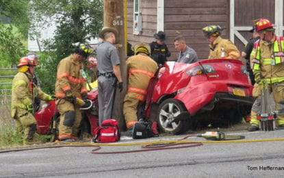Driver in New Salem crash sent to hospital
