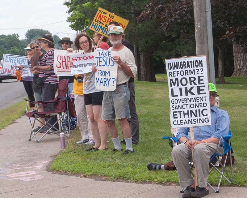 Protesters in Colonie call for the end of ICE (w/photo gallery)