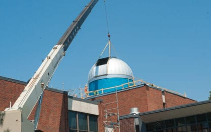 Siena preps for the Capital District's largest telescope (w/photo gallery)