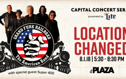 Grand Funk Railroad concert moved to rain location