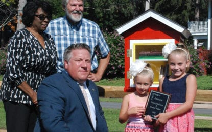 Delmar sisters donate mini-library
