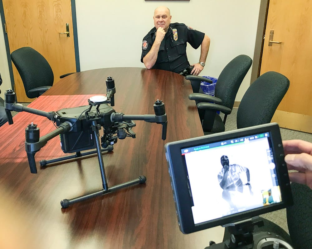 Colonie's relatively new drone program is getting put to good use