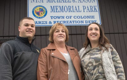 Colonie dedicates park to New York State Police Trooper Michael J. Anson