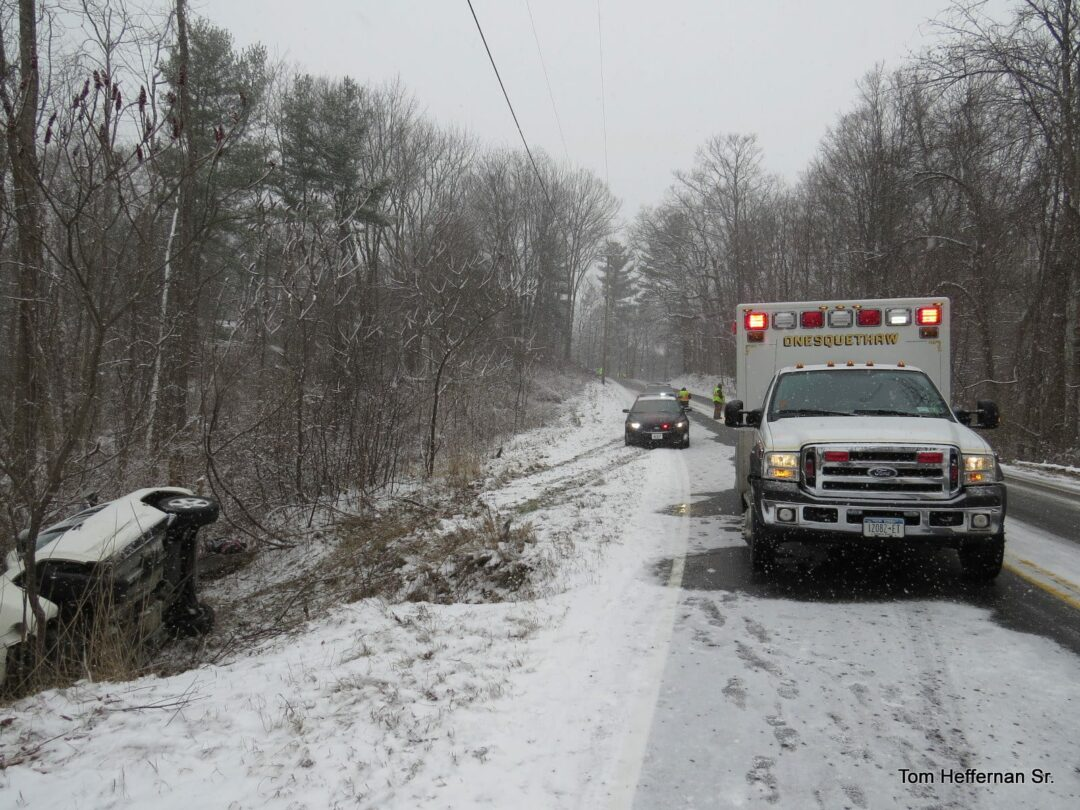 (UPDATED) Slippery road conditions led to auto accident