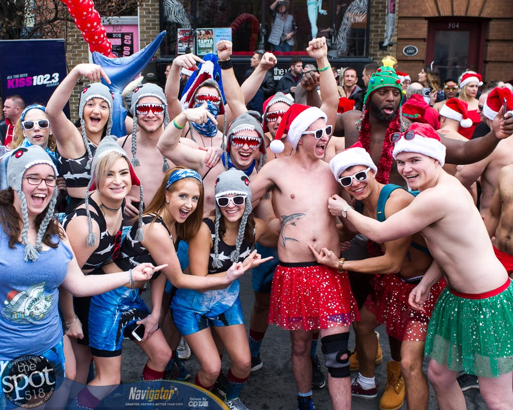 SPOTTED: The 13th Annual Santa Speedo Sprint