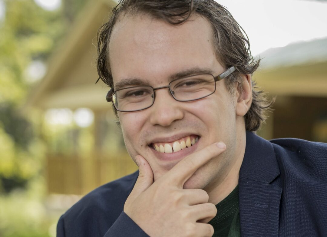 Local author won't allow himself to be defined by his cerebral palsy