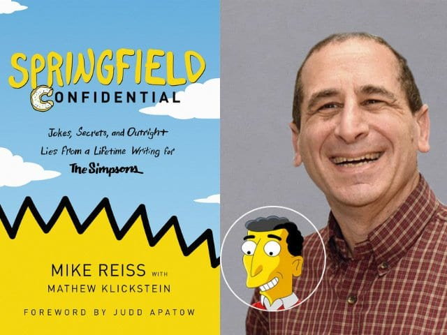Simpsons writer Mike Reiss will visit UAlbany this Friday