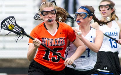 SPOTTED: Bethlehem rolls over Shaker in girls lax season opener
