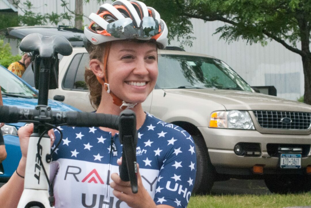 National cycling champion and Olympic candidate rides in Delmar