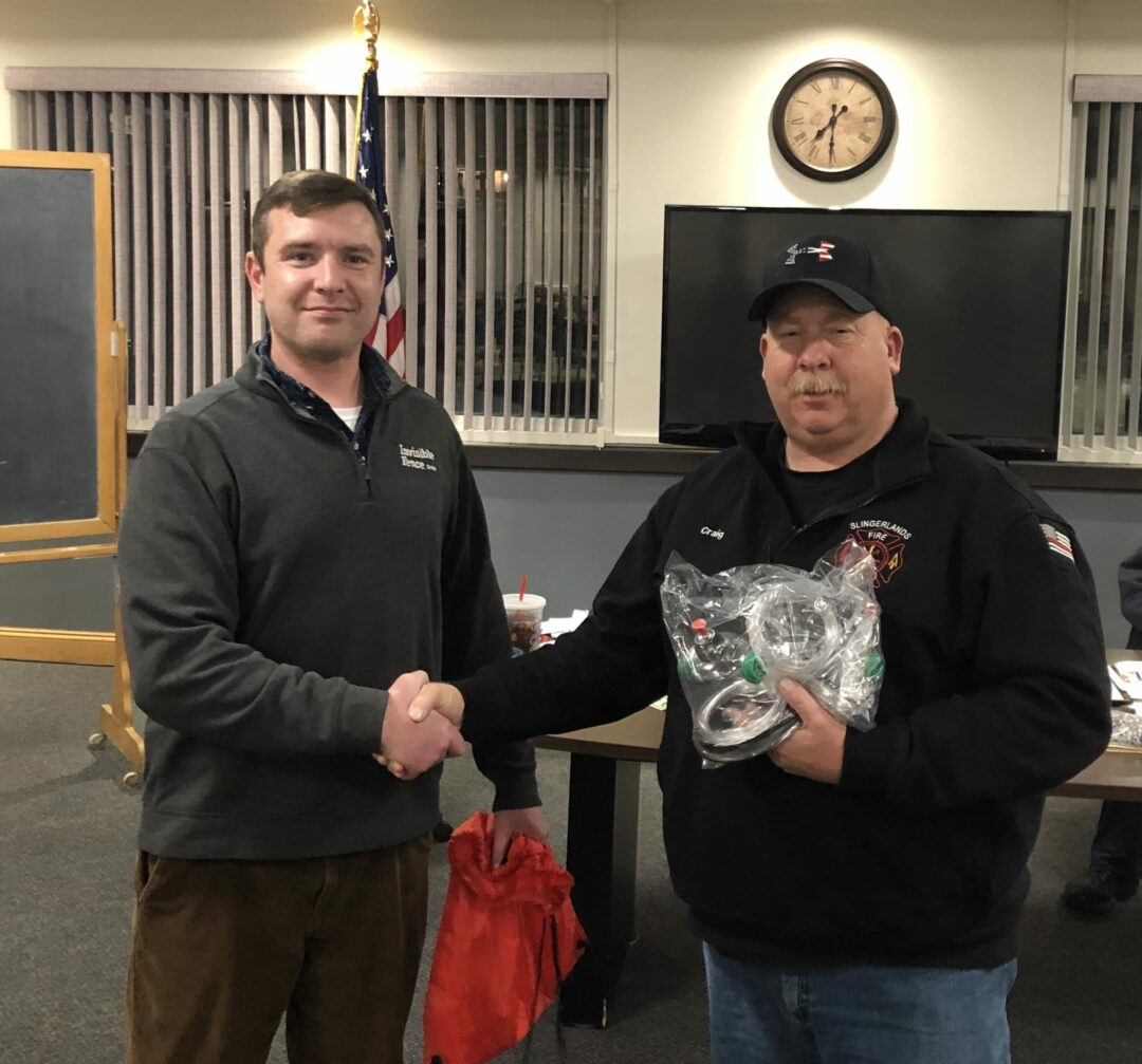 Pet oxygen masks donated to Slingerlands Fire Department