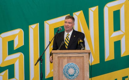 A Saint who marched: U.S. Army vet Chris Gibson to lead Siena