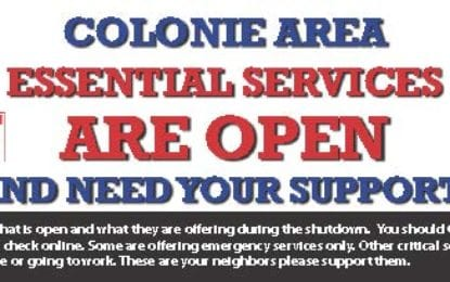 Colonie Spotlight area essential services: May 29-June 1, 2020