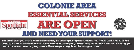 Colonie Spotlight area essential services daily update: March 31, 2020