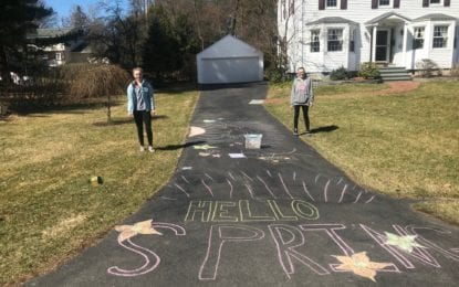 Delmar mother, daughter inspire community with driveway messages