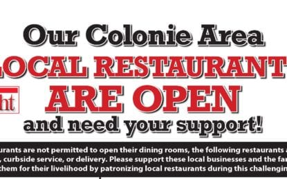 Colonie restaurant list for March 22, 2020: daily update