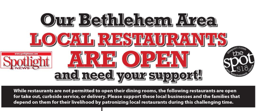 Bethlehem and Guilderland area restaurants: March 25, 2020 daily edition