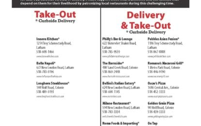 (LIST) Our Colonie area local restaurants are open and need your help!