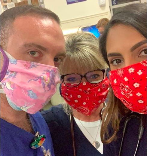 RCS teaching assistant makes masks from home for healthcare workers