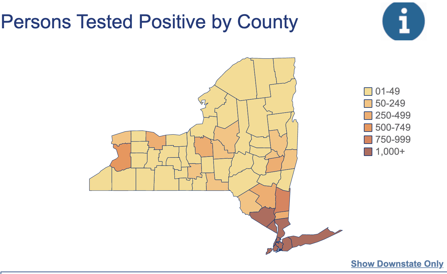 A statewide, county-by-county interactive map of COVID-19