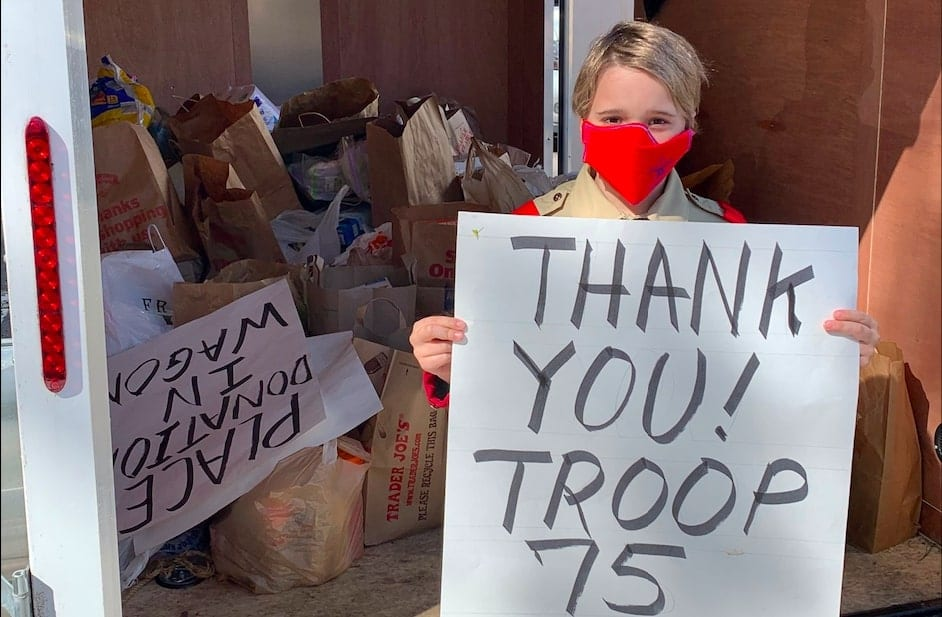 Delmar BSA Troop 75 held food drive to benefit Bethlehem Food Pantry (w/photo gallery)