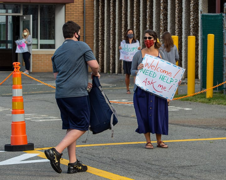 Students head back to the classrooms under unprecedented circumstances
